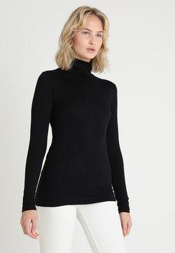 Kaffe - YOKO ROLLNECK - Langærmede T-shirts - black deep