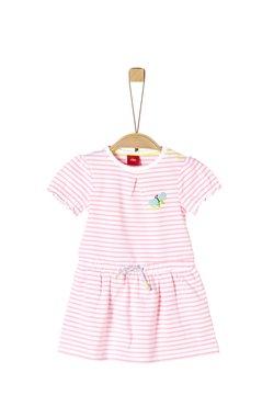 s.Oliver - Jerseykleid - light pink stripes