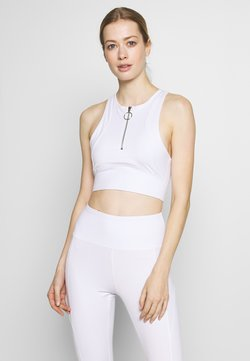 South Beach - ZIP CROP - Top - white