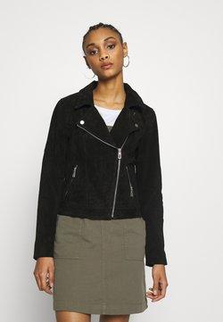 ONLY - ONLRILEY  - Veste en cuir - black