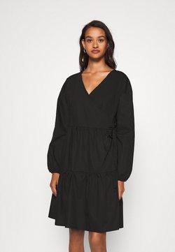 Noisy May - NMPINAR WRAP POPLIN DRESS - Kjole - black