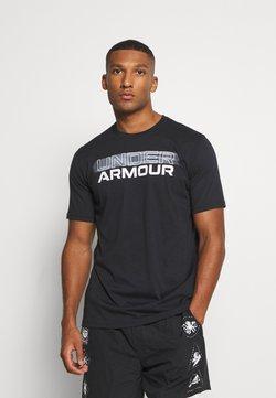 Under Armour - BLURRY LOGO WORDMARK  - Printtipaita - black/mod gray