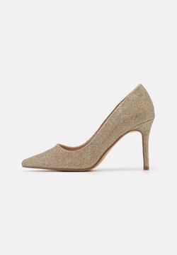 Dorothy Perkins - DELE SHIMMER COURT - Zapatos altos - gold