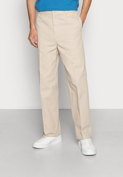 Weekday - ROSS WIDE TROUSERS - Chinot - beige
