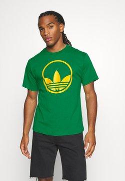 adidas Originals - CIRCLE TREFOIL - T-shirt z nadrukiem - green