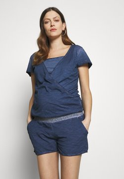 LOVE2WAIT - PLAYSUIT NURSING WASHED - Combinaison - blue