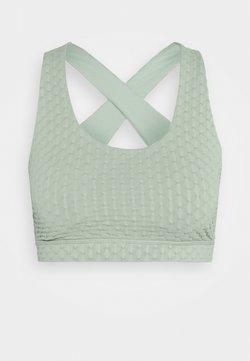 Cotton On Body - WORKOUT CUT OUT CROP - Soutien-gorge de sport - mint chip texture