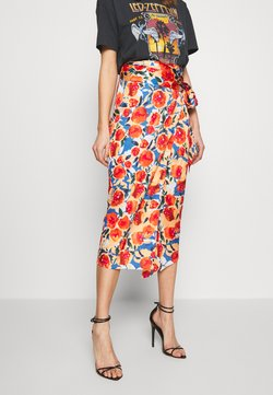 Never Fully Dressed - JASPRE DITSY PRINT SKIRT - Wikkelrok - orange