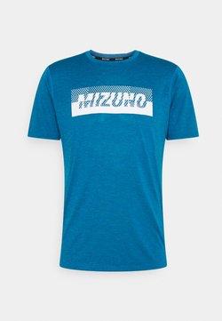 Mizuno - CORE GRAPHIC TEE - Camiseta estampada - mykonos blue