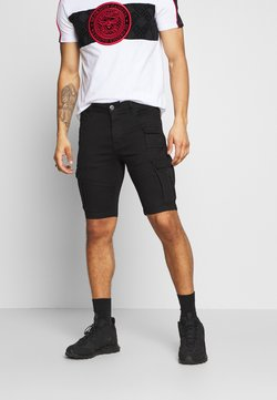 Glorious Gangsta - GLORIOUS GANGSTA ROGAN SKINNY - Jeansshort - black