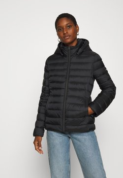 Calvin Klein - COATED ZIP LIGHT JACKET - Daunenjacke - black
