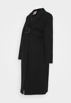 Dorothy Perkins Maternity - BELTED WRAP COAT - Abrigo - black
