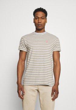 REVOLUTION - STRIPED - T-Shirt print - grey melange