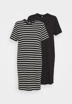 ONLY Tall - ONLMAY LIFE  JUNE DRESS 2 PACK - Vestido ligero - black/black cloud dancer