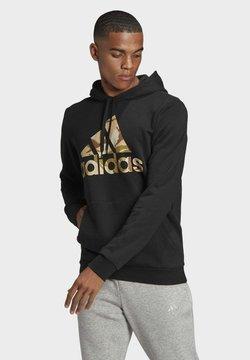 adidas Performance - CAMOUFLAGE HD ESSENTIALS SPORTS REGULAR SWEATSHIRT HOODIE - Bluza z kapturem - black