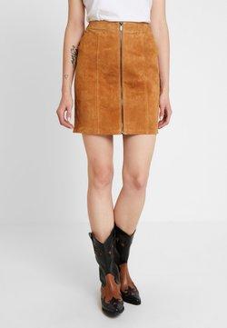 Vila - Mini skirt - dusty camel