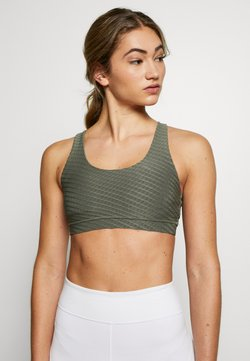 Cotton On Body - STRAPPY SPORTS CROP - Sport BH - steely shadow
