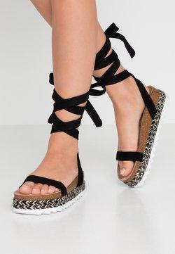 Public Desire - REMI - Korkeakorkoiset sandaalit - black