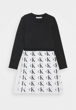 Calvin Klein Jeans - PLISSE PUNTO DRESS - Freizeitkleid - white