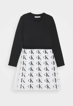 Calvin Klein Jeans - PLISSE PUNTO DRESS - Robe d'été - white