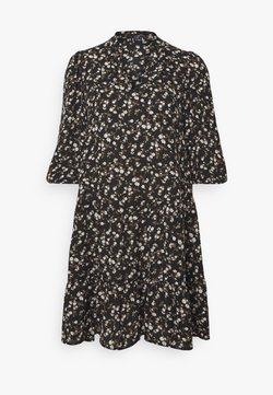 Vero Moda - VMZIGGA V-NECK SHORT DRESS  - Freizeitkleid - black
