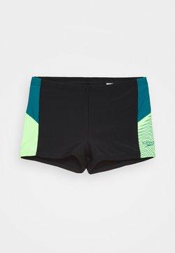 Speedo - DIVE - Shorts da mare - black/swell green/zest green