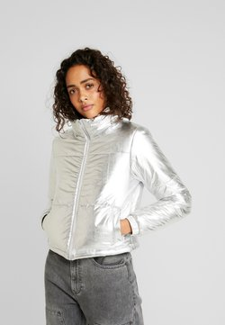 Urban Classics - LADIES PUFFER JACKET - Winterjacke - silver