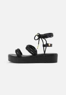 MICHAEL Michael Kors - MARINA - Korkeakorkoiset sandaalit - black