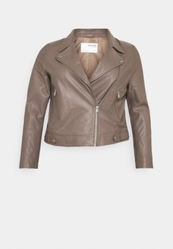 Selected Femme Curve - SLFKATTY  JACKET - Kurtka skórzana - fossil