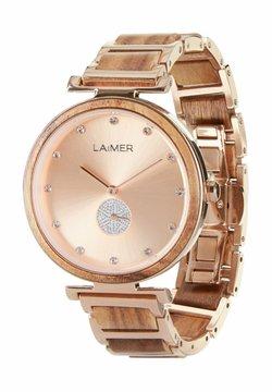 LAIMER - LAIMER QUARZ HOLZUHR - ANALOGE ARMBANDUHR MIA - Uhr - rose