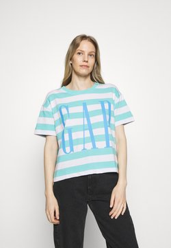GAP - BOXY TEE - T-Shirt print - blue