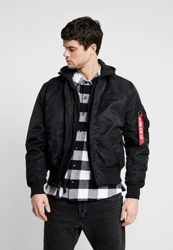 Alpha Industries - TEC BACK PRINT - Giubbotto Bomber - black/red