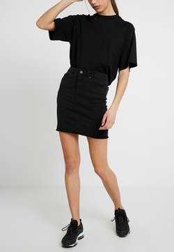 Pieces - PCAIA SKIRT  - Bleistiftrock - black denim