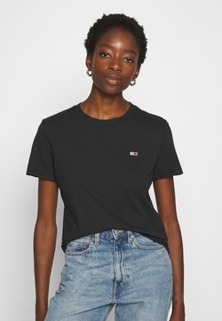 Tommy Jeans - REGULAR C NECK - T-shirt basic - black