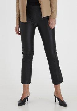 Dranella - Pantalon en cuir - black