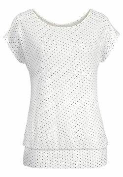 LASCANA - T-Shirt print - creme-gepunktet