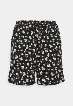 Glamorous Curve - ELASTICATED TIE HIGH WAISTED - Shorts - black/white