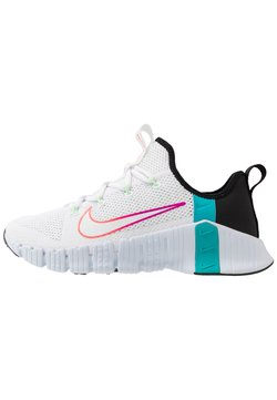 Nike Performance - FREE METCON 3 - Sports shoes - white/hyper violet/flash crimson