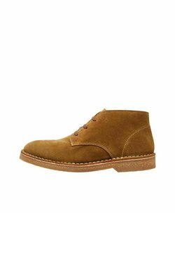 Selected Homme - Sznurowane obuwie sportowe - tobacco brown