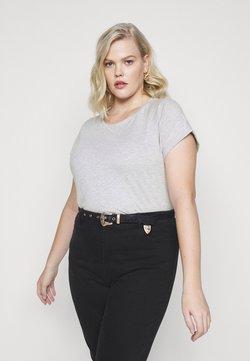 Anna Field - T-Shirt basic - mottled light grey
