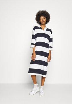 GANT - FEMININE STRIPED RUGGER DRESS - Sukienka etui - evening blue