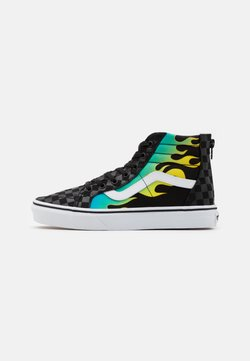 Vans - SK8 ZIP UNISEX - Korkeavartiset tennarit - rainbow/true white