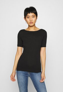 Marc O'Polo - SHORT SLEEVE BOAT NECK - T-Shirt basic - black