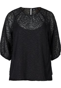 Zizzi - TEXTURED - Blouse - black