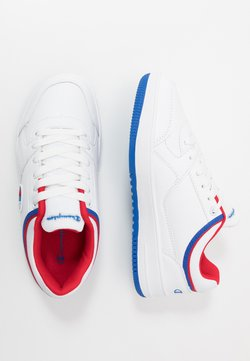 Champion - LOW CUT SHOE NEW REBOUND LOW  - Basketball shoes - white/red
