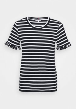 Tommy Hilfiger - TANJA RELAXED - T-Shirt print - breton/white