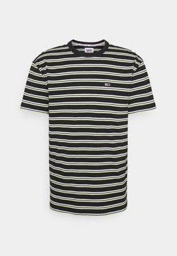 Tommy Jeans - TWO TONE STRIPE CLASSIC TEE - T-Shirt print - black