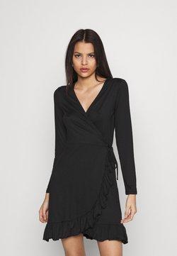 Vila - VILINDA DRESS - Jerseykjole - black