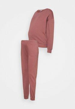 ONLY - ONLDREAMER LIFE O NECK PANTS SET - Sweatshirt - rose brown