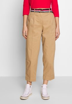 Tommy Hilfiger - ESSENTIAL PLEATED - Chinot - classic khaki